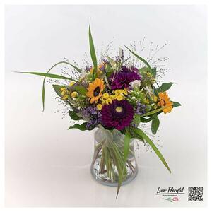 Sonnenblumen, Phlox und Dahlien