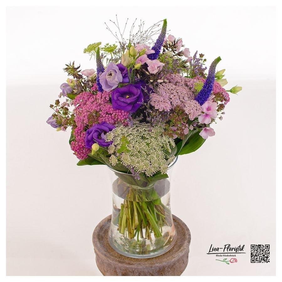 Blumenstrauß mit Veronika, Ami, Phlox, Schafgarbe und Lisianthus